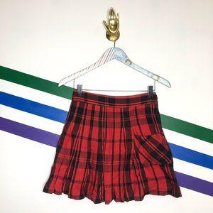NEW Free People plaid skirt